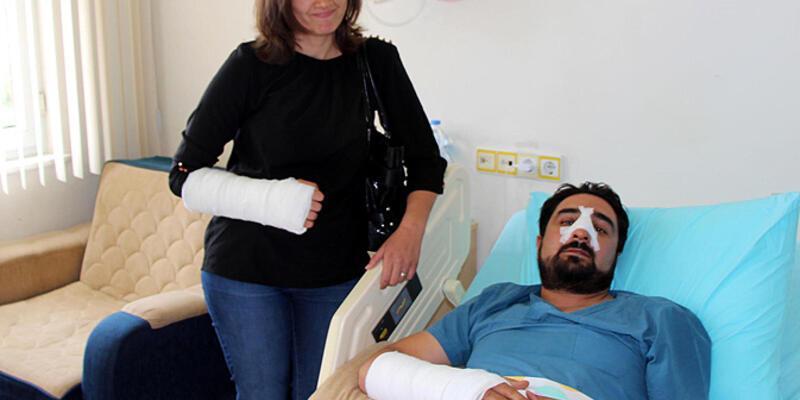 Hasta yakını doktor ve hemşireye saldırdı!