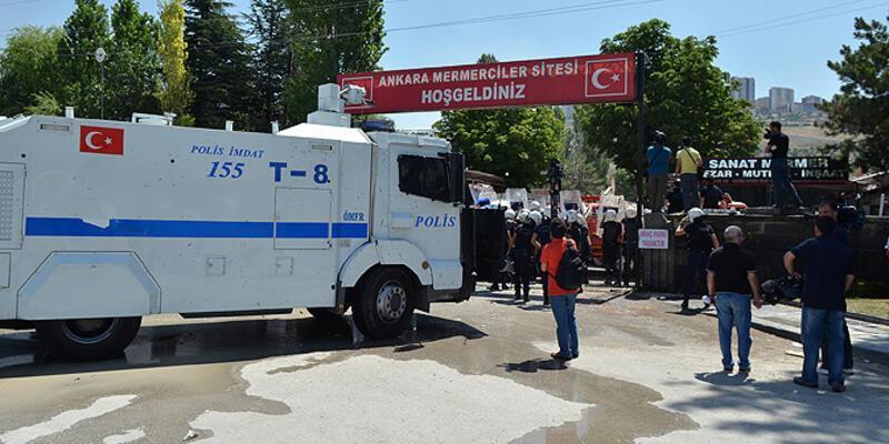 Ankara'da olaylı yıkım