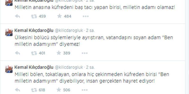 Kılıçdaroğlu twitter'dan Erdoğan'ı ağır bir dille eleştirdi