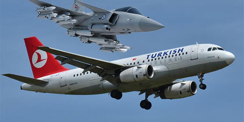 THY uçakları jetleri alarma geçirdi!
