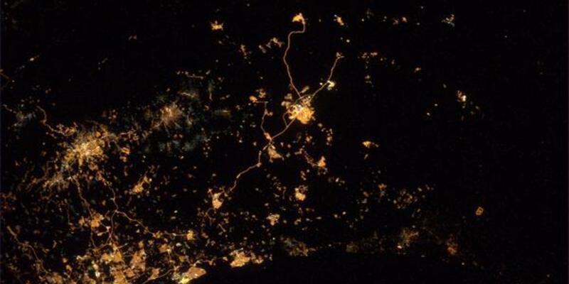 Uzaydan Gazze fotoğrafı