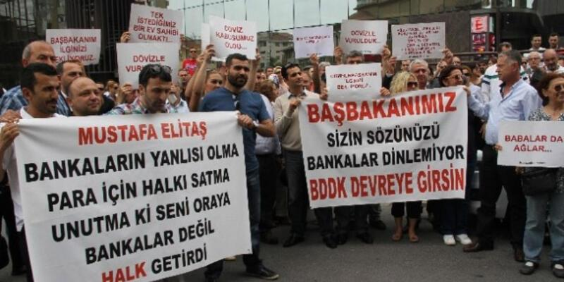 BDDK binası önünde eylem