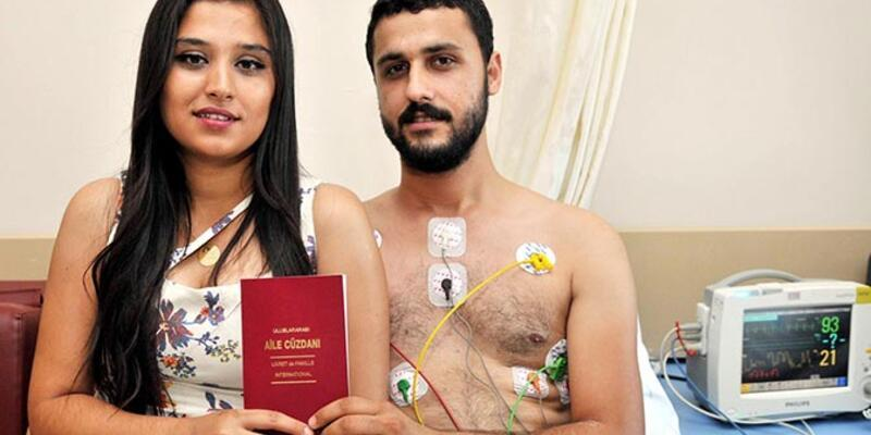 Damat taburcu olamayınca, nikah hastanede kıyıldı
