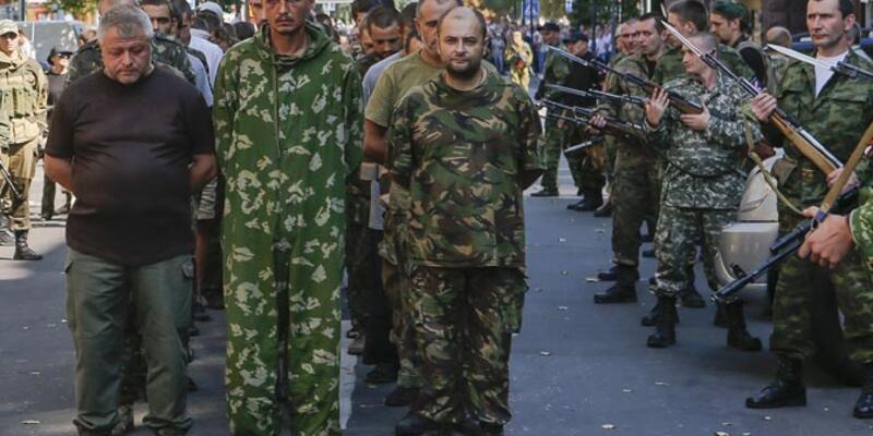 """Bağımsızlık gününde Ukrayna'nın doğusunda """"utanç yürüyüşü"""""""