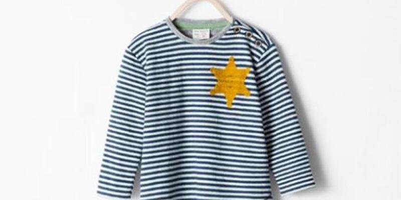 Yahudi mahkumların üniformasına benzeyen tişört tepki topladı