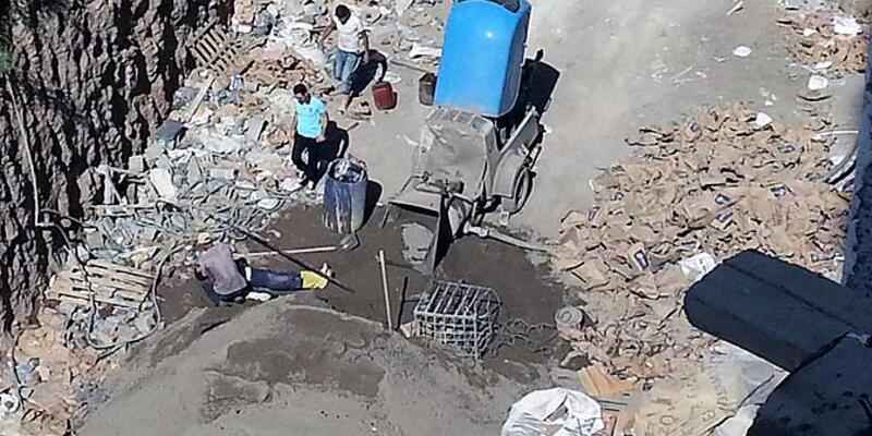 İnşaatta kopan halat, Suriyeli işçinin canını aldı
