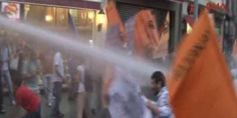 Beyoğlu'ndaki Erdoğan protestosuna müdahale