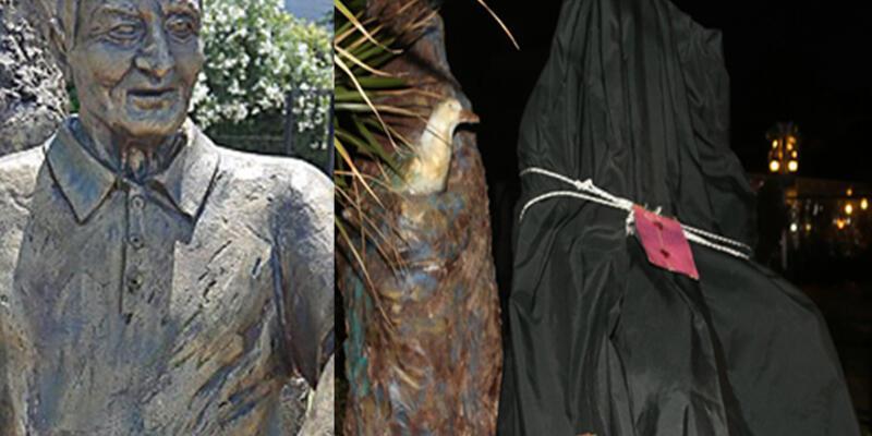 Büyükada'daki Lefter heykeli mühürlendi