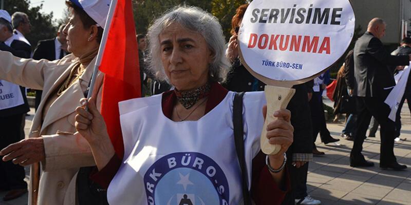 Ankara'da servislerin kaldırılması protesto edildi