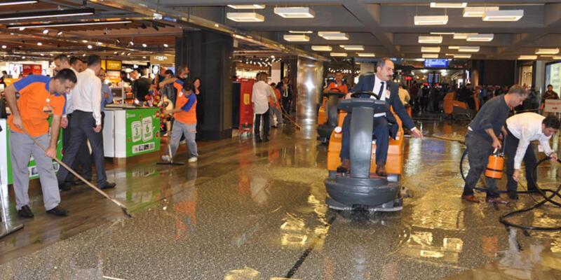 Atatürk Havalimanı'nda su baskını