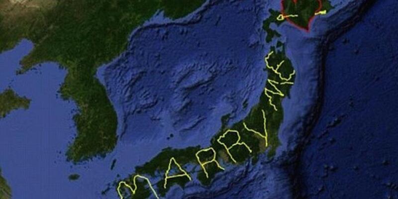 Japon sanatçının 7 bin kilometre dolambaçlı evlilik teklifi