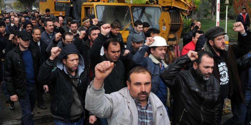 Yatağanlı işçilerin eylemi sona erdi
