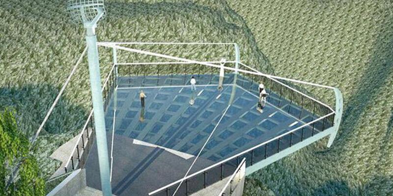 Ulubey Kanyonu'nda yapılacak olan cam teras için temel atıldı