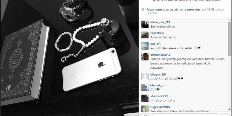 Arda Turan'dan Kuran-ı Kerim'li instagram mesajı
