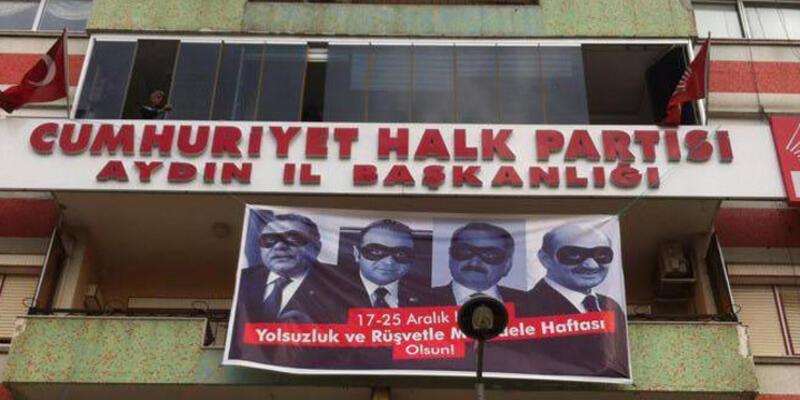 CHP, Aydın'da pankart indirenleri HSYK'ya şikayet etti