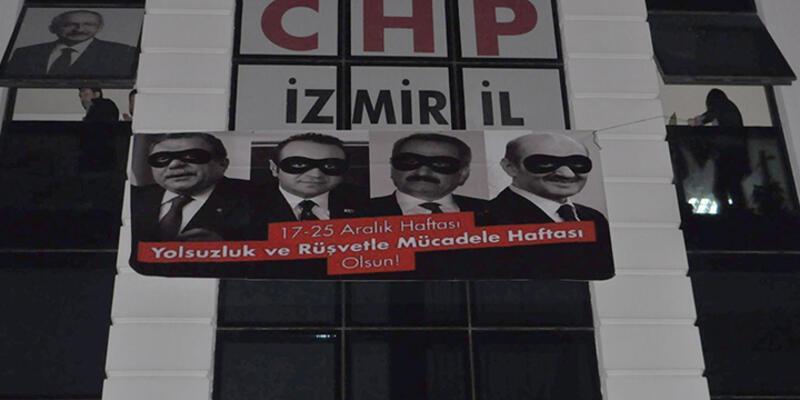 CHP'nin pankartı mahkeme kararıyla indirildi
