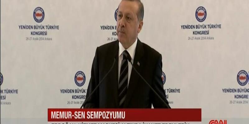 Cumhurbaşkanı Erdoğan Memur-Sen Sempozyumu'nda konuştu