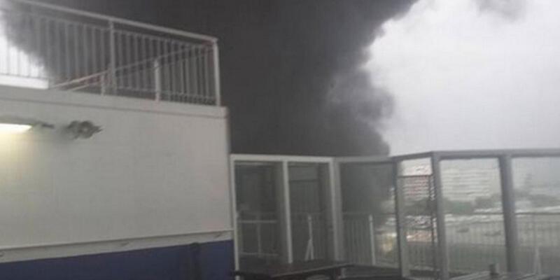 İtalyan feribotunda yangın çıktı