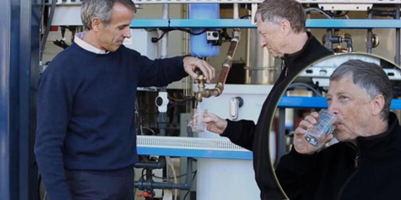 Bill Gates insan dışkısından filtrelenen suyu içti!