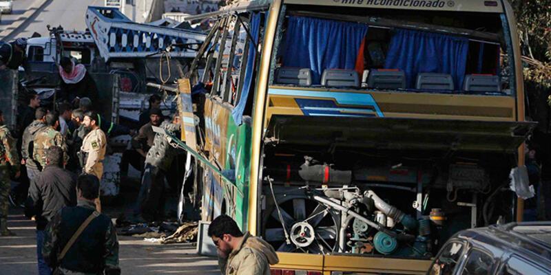 Şam'da hacıları taşıyan otobüse bombalı saldırı!