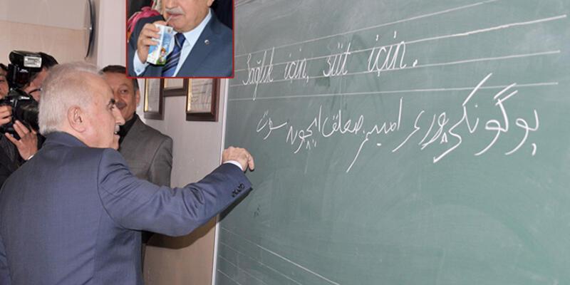 """Edirne Valisi tahtaya Osmanlıca """"süt için"""" yazdı"""