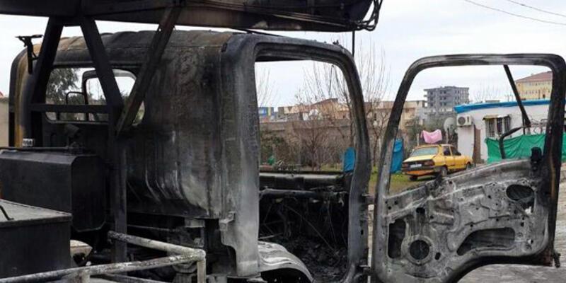 Silopi'de DEDAŞ'ın aracını yaktılar