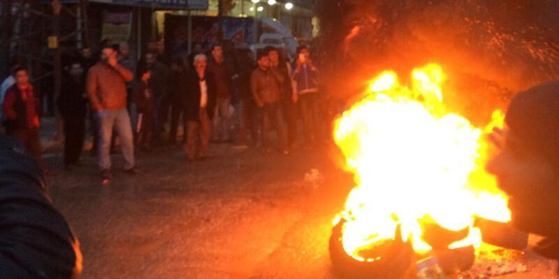 Elektrik kesintisini protesto eyleminde gerginlik