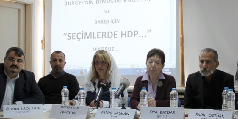 Şair, akademisyen ve sanatçılardan oluşan 803 kişiden HDP'ye destek