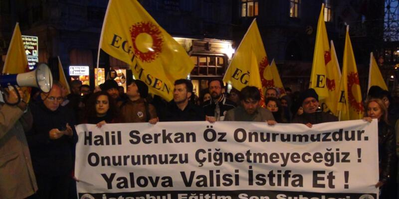 Taksim'de Yalova Valisi'ni protesto