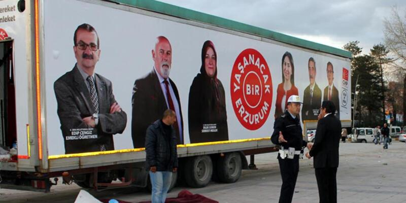 Erzurum'da CHP'ye stand yasağı