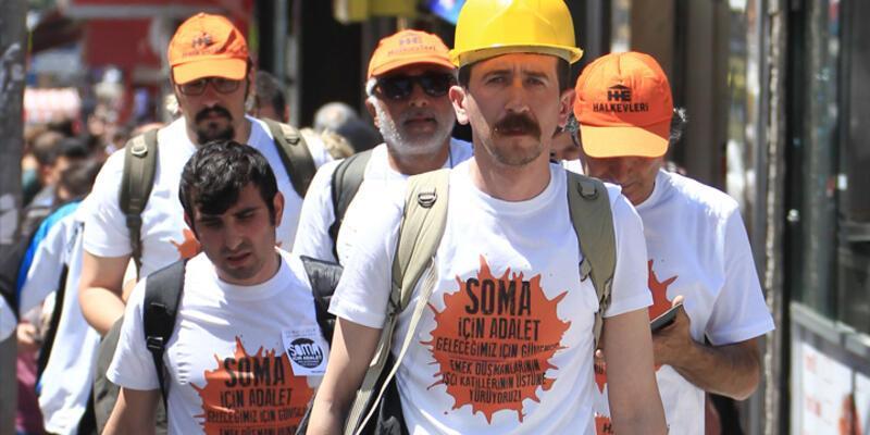 Soma için İstanbul'dan Soma'ya yürüyorlar