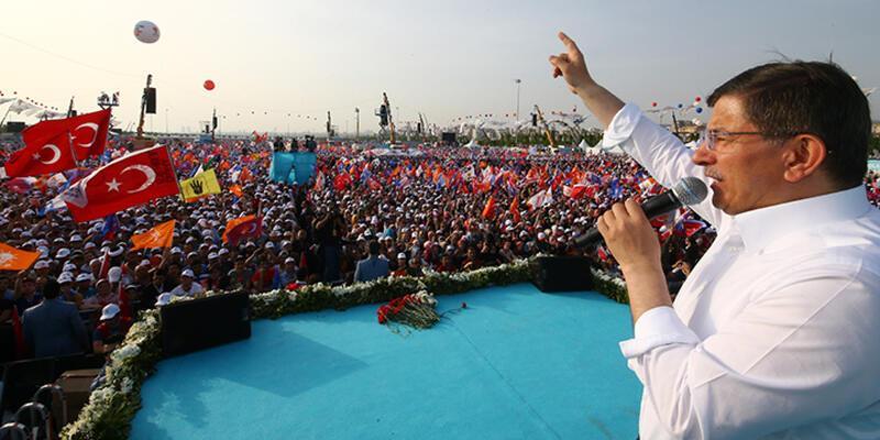 Başbakan Ahmet Davutoğlu Maltepe mitinginde konuştu