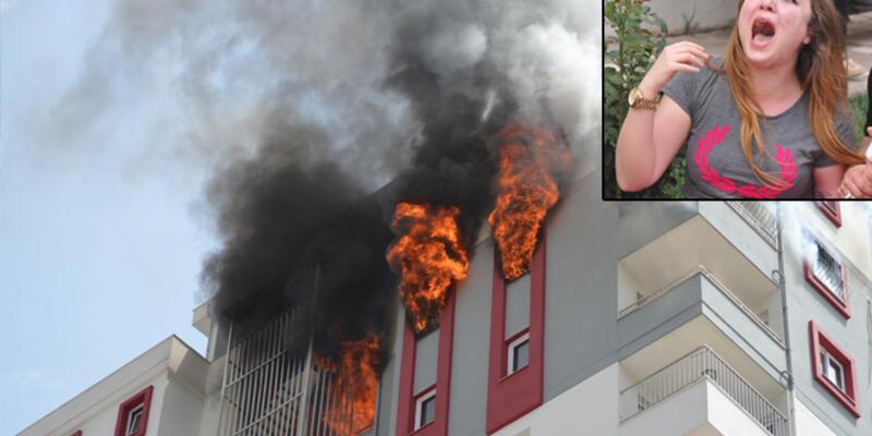 Adana'da lüks sitede yangın