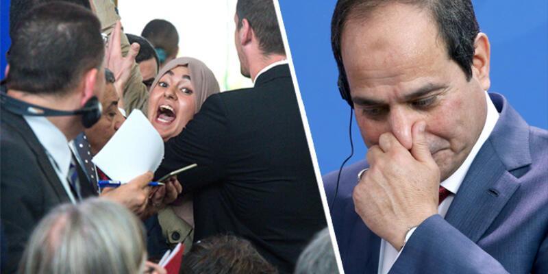 """Almanya'da Sisi'ye protesto: """"O bir katil"""""""
