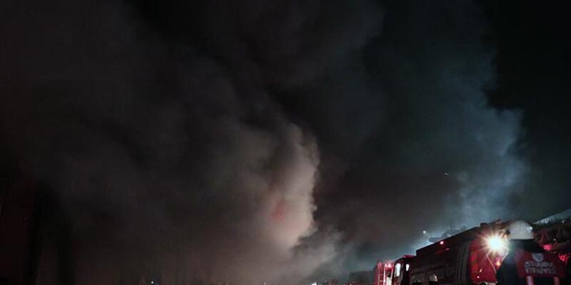 Hadımköy'de yangın çıktı
