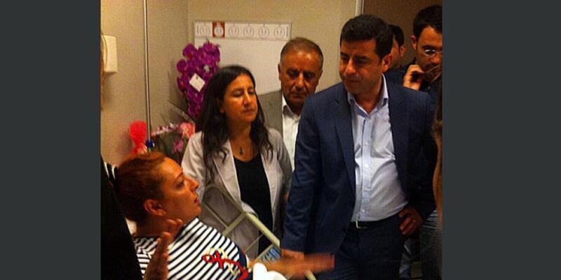 Demirtaş, DHA muhabiri Altıntaş'ı ziyaret etti