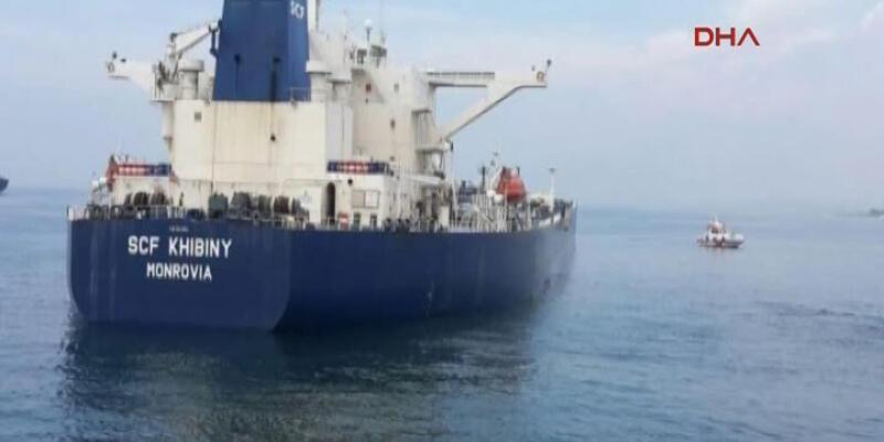 Petrol tankeri Ahırkapı açıklarında karaya oturdu