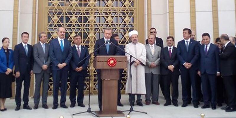 Cumhurbaşkanı Erdoğan, Beştepe Millet Camii'nin açılışını yaptı