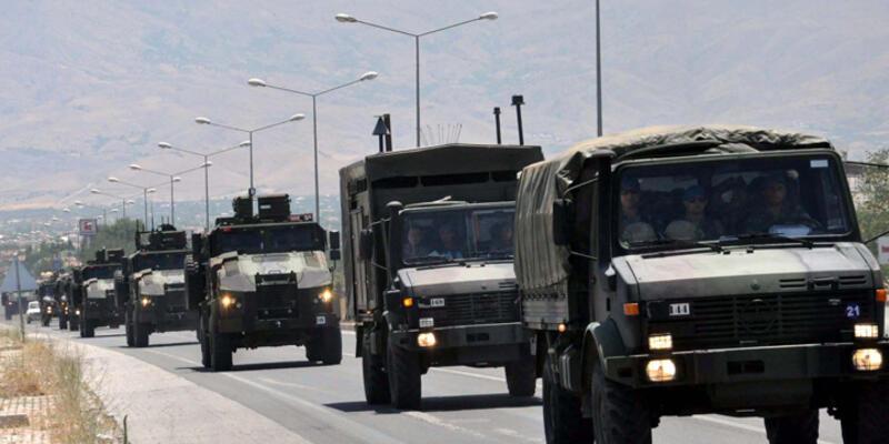 Tunceli'den Suriye sınırına askeri sevkiyat