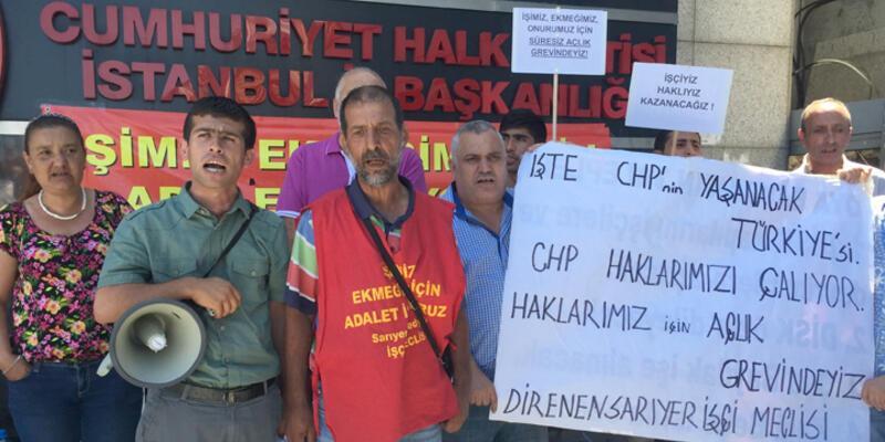 CHP önünde açlık grevi