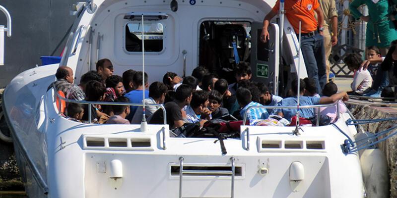 Ayvacık açıklarında 182 kaçak yakalandı