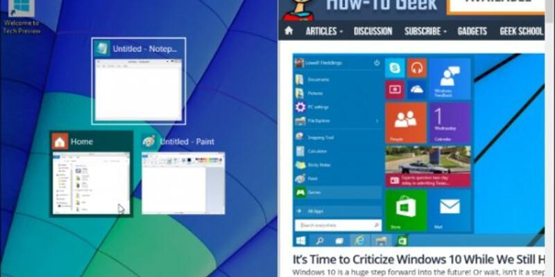 Windows 10'un kısa yol tuşları