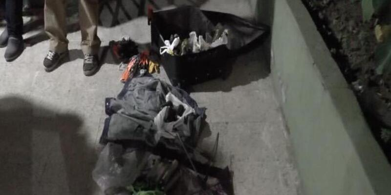 Kadıköy'de bavuldan el yapımı bomba çıktı