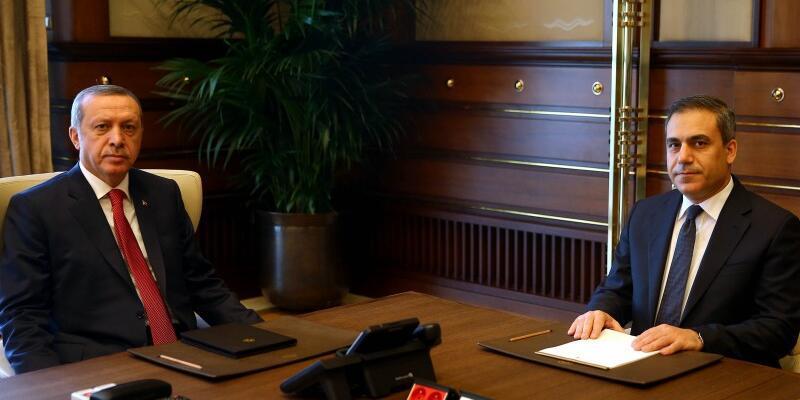 Cumhurbaşkanı Erdoğan, MİT Müsteşarı Fidan ile görüştü