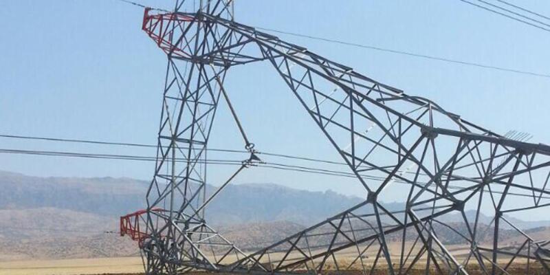Şırnak'ta elektrik hattına sabotaj