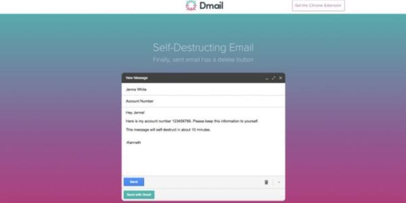 Kendini imha eden e-posta: Dmail