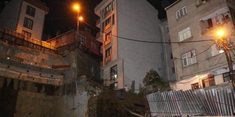 Kağıthane'de 2 bina toprak kayması nedeniyle boşaltıldı