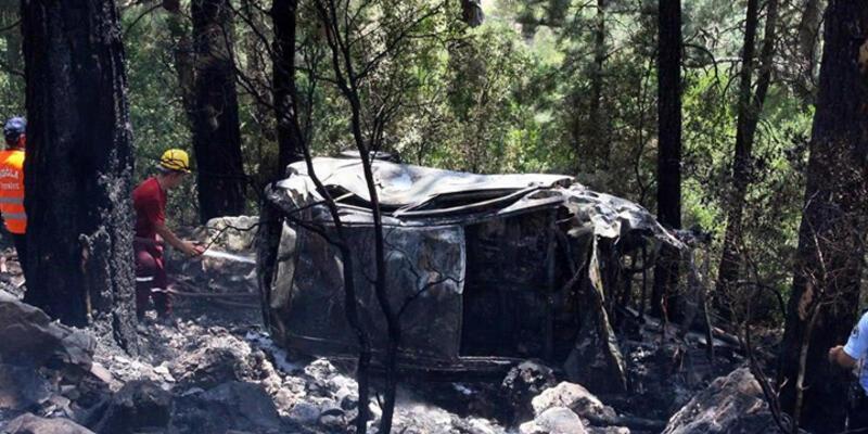 Eski milli kaleci Fevzi'nin annesine kayıtlı otomobil uçurumdan yuvarlandı