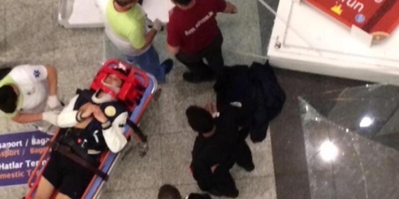 Atatürk Havalimanı'nda akılalmaz kaza