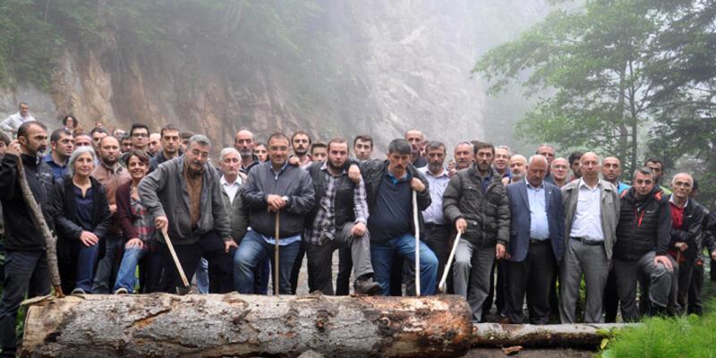 Cerattepe'de madene karşı nöbet tutanlara kütükle yol kesme soruşturması